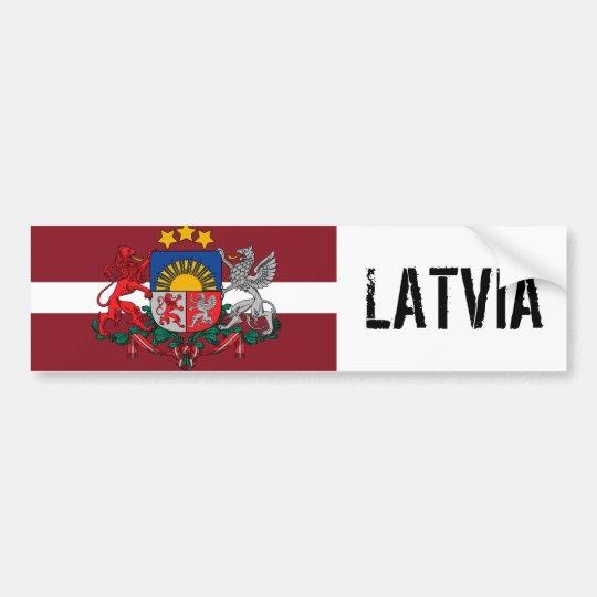 LATVIA BUMPER STICKER