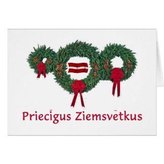 Latvia Christmas 2 Card