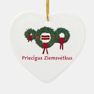 Latvia Christmas 2 Christmas Ornament