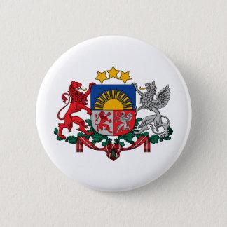 Latvia coat of arms 6 cm round badge