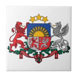 Latvia Coat Of Arms Tile
