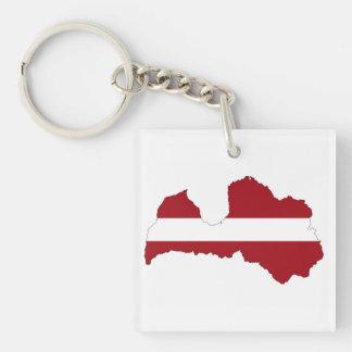 latvia country flag map shape symbol key ring