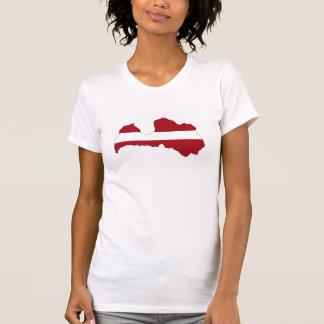 latvia country flag map shape symbol T-Shirt