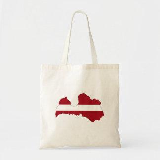 latvia country flag map shape symbol tote bag