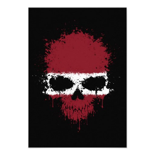 Latvia Dripping Splatter Skull Announcement