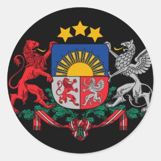 latvia emblem classic round sticker