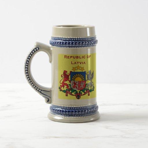 Latvia (Europe) Stein Mug