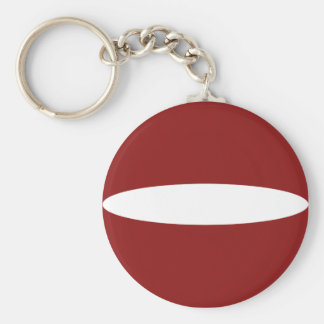 Latvia Fisheye Flag Keychain