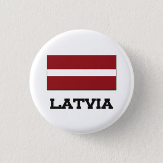 Latvia Flag 3 Cm Round Badge