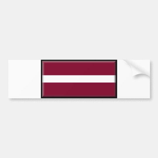 Latvia Flag Bumper Sticker