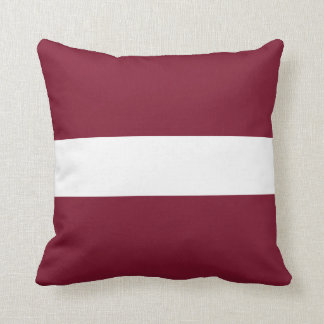 Latvia Flag Cushion
