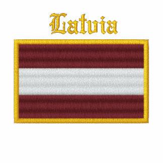 Latvia Flag Embroidered Shirts