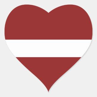 Latvia Flag Heart Sticker