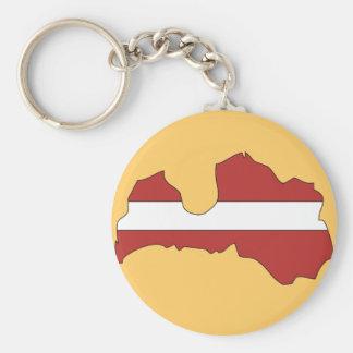 Latvia flag map key ring