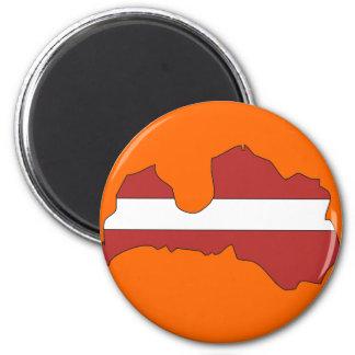 Latvia flag map magnet