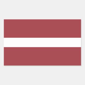 Latvia Flag Rectangular Sticker