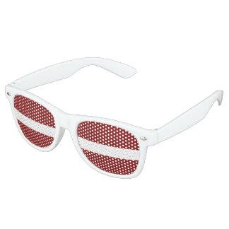Latvia Flag Retro Sunglasses