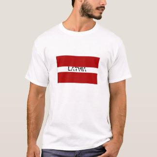 Latvia flag souvenir tshirt