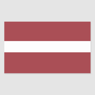 Latvia Flag Stickers* Rectangular Sticker