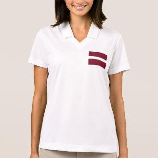 Latvia Flag Polo T-shirts