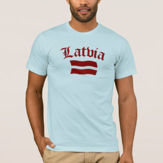 Latvia Flag (w/insciption) T-Shirt