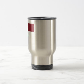 Latvia Flag with Name in Latvian Travel Mug