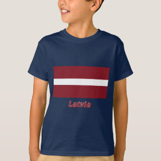 Latvia Flag with Name T-Shirt