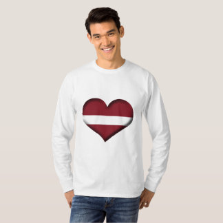 Latvia Heart Flag T-Shirt