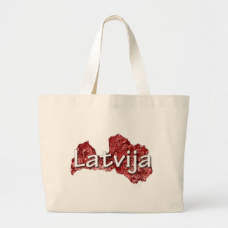 Latvia Large Tote Bag
