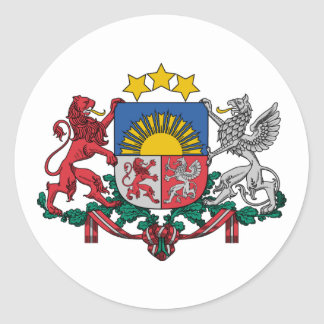Latvia, Latvia Classic Round Sticker