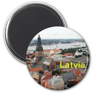 Latvia magnet
