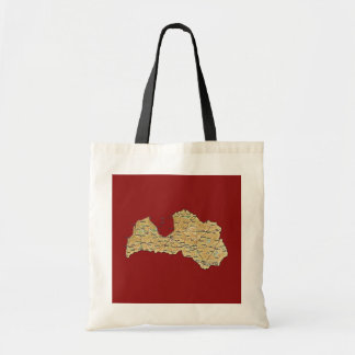 Latvia Map Bag