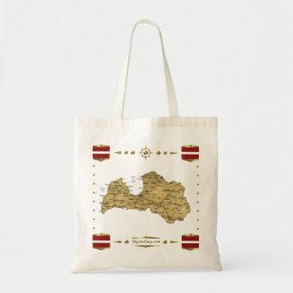 Latvia Map + Flags Bag