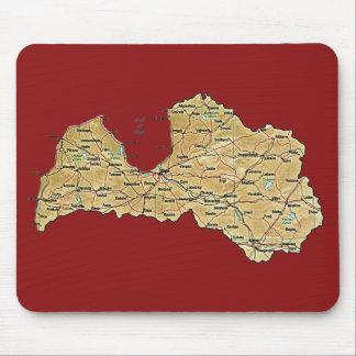 Latvia Map Mousepad