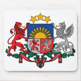 Latvia Official Coat Of Arms Heraldry Symbol Mouse Mat