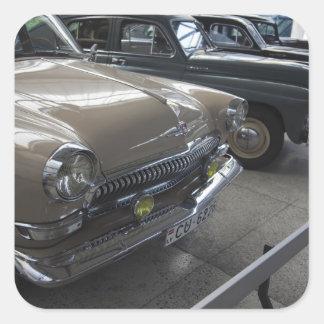 Latvia, Riga, Riga Motor Museum, 1960s Square Sticker