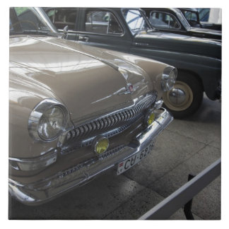 Latvia, Riga, Riga Motor Museum, 1960s Tile