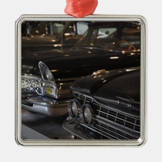 Latvia, Riga, Riga Motor Museum, cars of the Silver-Colored Square Decoration