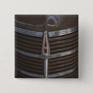 Latvia, Riga, Riga Motor Museum, hood ornament 15 Cm Square Badge