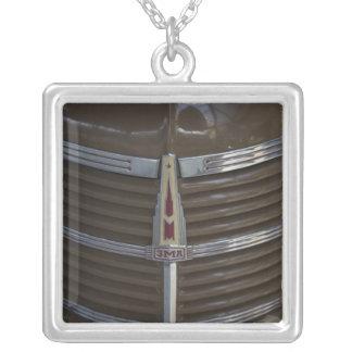 Latvia, Riga, Riga Motor Museum, hood ornament Silver Plated Necklace
