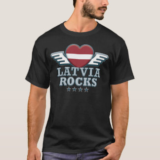 Latvia Rocks v2 T-Shirt