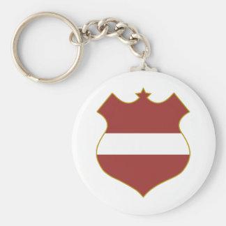 Latvia-shield.png Key Ring