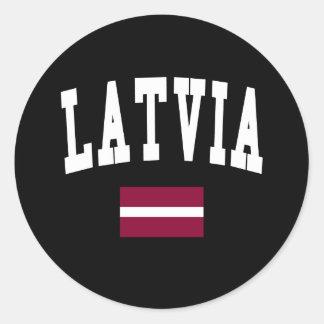 Latvia Style Classic Round Sticker