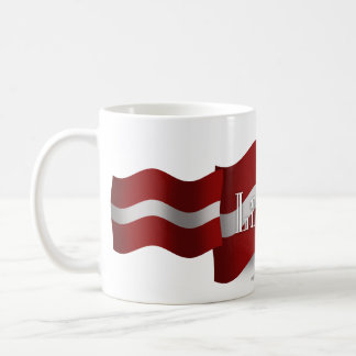 Latvia Waving Flag Basic White Mug