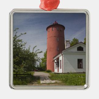 Latvia, Western Latvia, Kurzeme Region, Cape 2 Silver-Colored Square Decoration