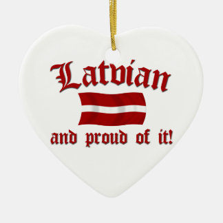 Latvian and Proud of It Ceramic Heart Decoration