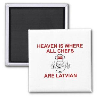 Latvian Chefs Refrigerator Magnet