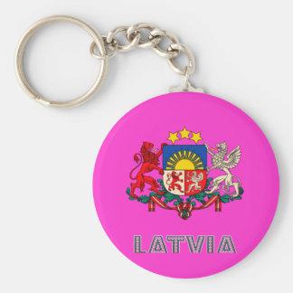 Latvian Emblem Key Ring