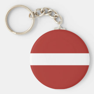 Latvian Flag Key Ring