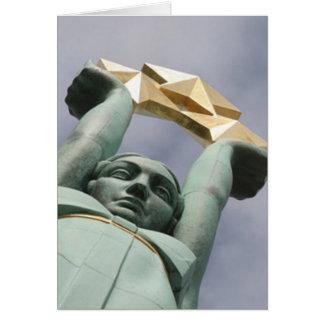 Latvian freedom monument card